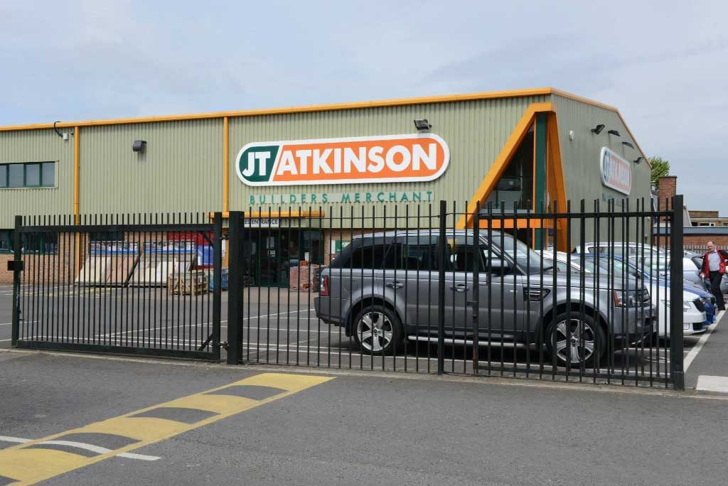 2.4M High Railing at JT Atkinson & Sons Builders Yard / Retailer