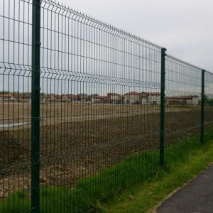 2.4m crimped mesh panel fencing installed round a domestic housing development in West Park, Darlington.