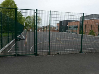 3m High Twin Wire Mesh used as MUGA at Westgate Hill Primary School, Newcastle upon Tyne.