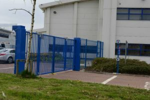 2.40m High x 6m Wide Speed Gates installed in Peterlee, North England.