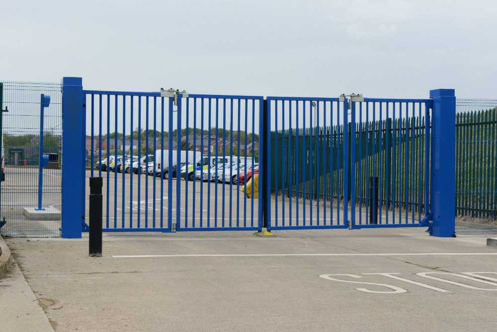 2.40m High x 6m Wide Speed Gates in Peterlee, North England.