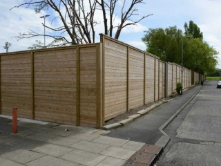 3m High Acoustic Barrier at Cargo Fleet Office, Middlesbrough