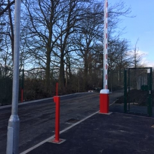 Automatic Rising Arm Barrier & Semi Automatic Single Gate installed at travellers site for Darlington Borough Council