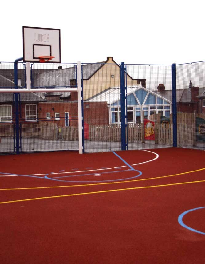 Community Ball Court MUGA in Gateshead, North East