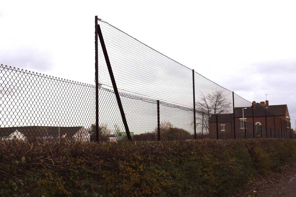 Ball stop netting