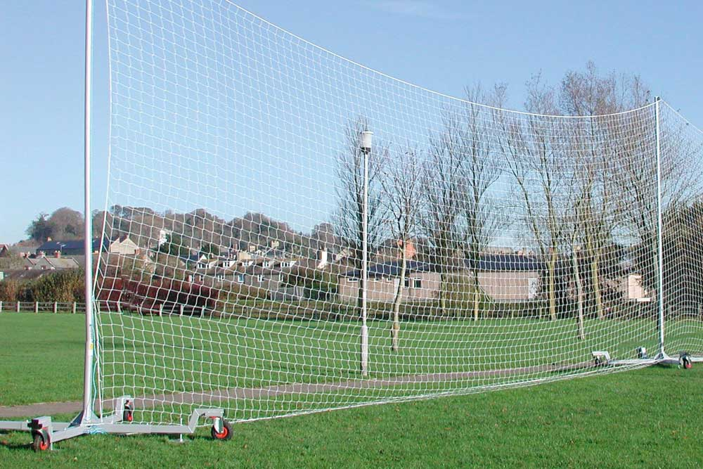Mobile ball stop netting installed in North East England