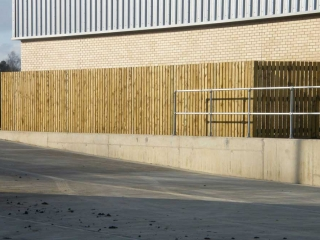 Timber fencing BAE Systems