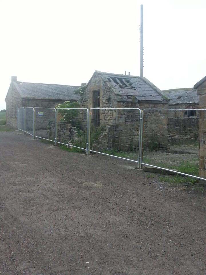 Fencing was required to prevent access to a potentially dangerous site.