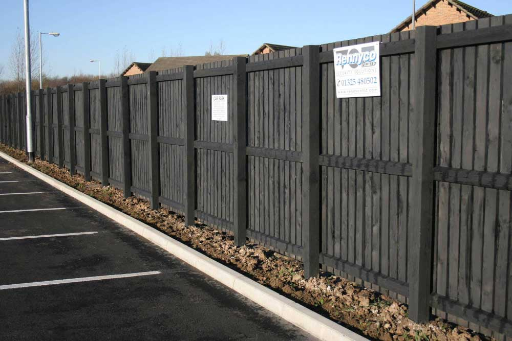 timber demarcation fence