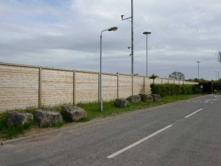 2.40m High Acoustic fencing installed at Darlington Borough Council, North East UK