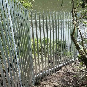 This is the end of the fence going into the river Wear, Sunderland