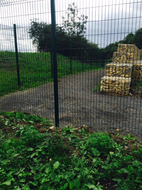 Crimped mesh perimeter fence erected at Kynren, County Durham