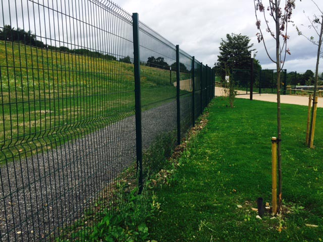 Weld mesh perimeter fence erected at Kynren, County Durham