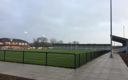 Blackwell Meadow ready for the Quakers first game back in the town against FC Halifax Town on Boxing day 2016.