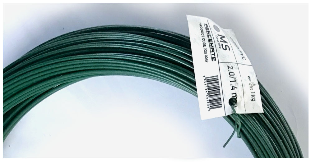 PVC tying wire 2mm with a 1.4mm core