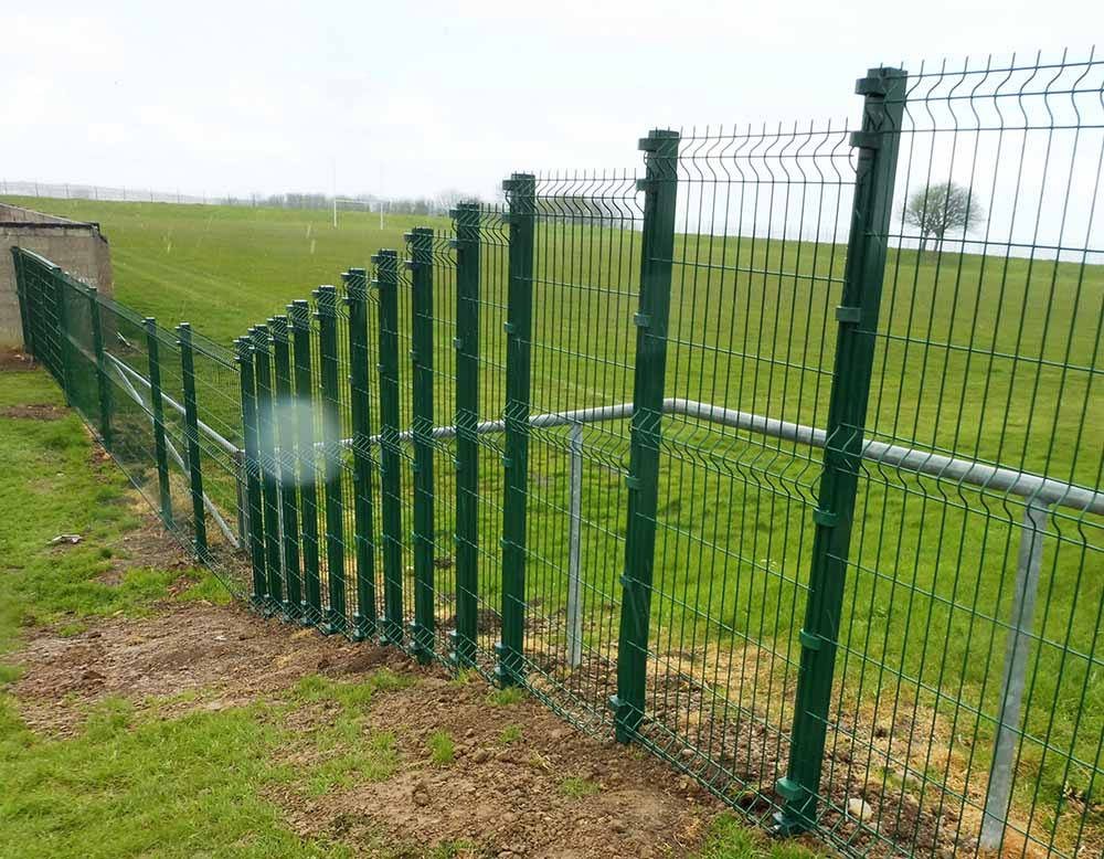 Stepped Nylofor fencing