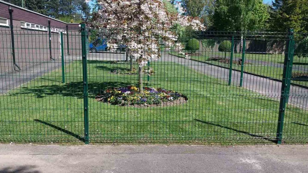 Weld mesh fencing provides demarcation for school grounds