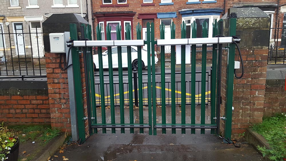 School electric security gate
