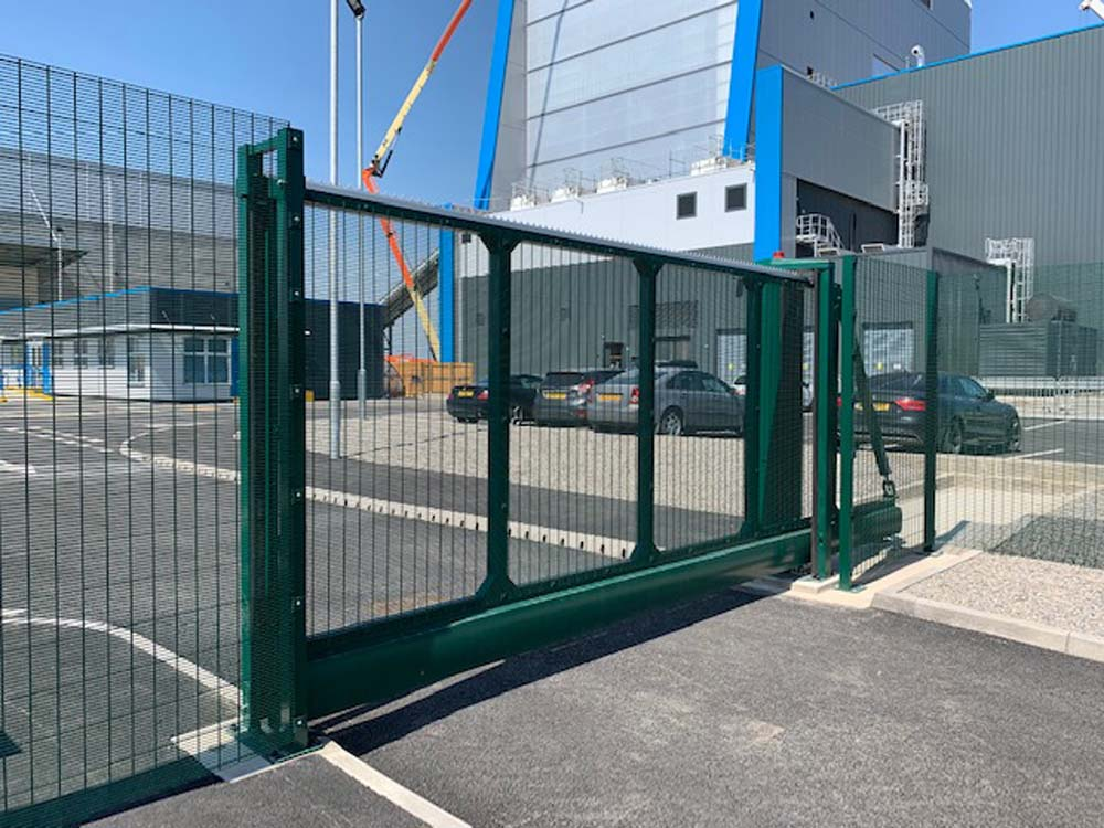 Electric sliding gate Teesside Biomass