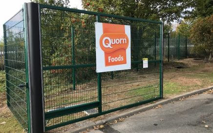 Quorn site Billingham automated swing gate