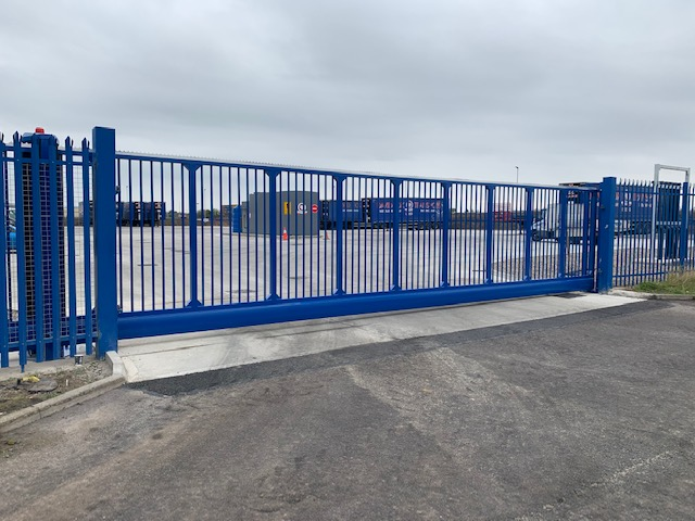 10.4M Cantilever sliding gate installed at Fox Transport Middlesbrough Cleveland