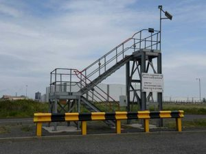 Crash Barrier protecting ladder access